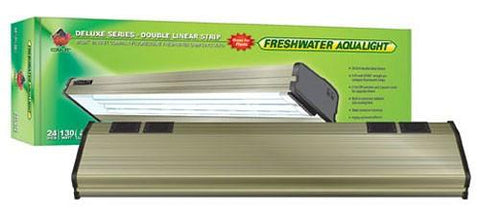 Coralife Freshwater Aqualight Double Linear Strip Compact Fluorescent Fixture, 2X65 Watt, 24 inch (53112) - Peazz Pet