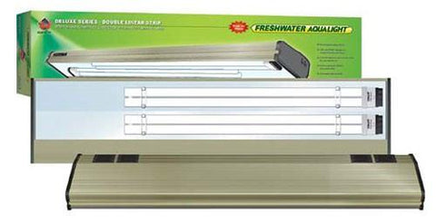 Coralife Freshwater Aqualight Double Linear Strip Compact Fluorescent Fixture, 2X65 Watt, 30 inch (53113) - Peazz Pet