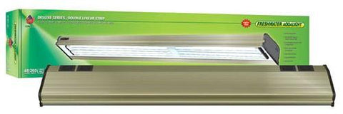 Coralife Freshwater Aqualight Double Linear Strip Compact Fluorescent Fixture, 4X65 Watt, 48 inch (53116) - Peazz Pet