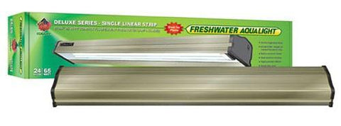 Coralife Freshwater Aqualight Single Linear Strip Compact Fluorescent Fixture, 1X65 Watt, 24 inch (53014) - Peazz Pet