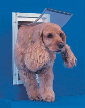 Ideal Pet Door Deluxe White Dog Door Medium (DDMW) - Peazz Pet