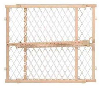 Evenflo G202 Position and Lock Gate Clear Wood / White Mesh - Peazz Pet