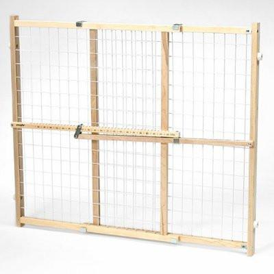 Evenflo G662 Position & Lock Plus Gate Clear Wood/White Mesh - Peazz Pet