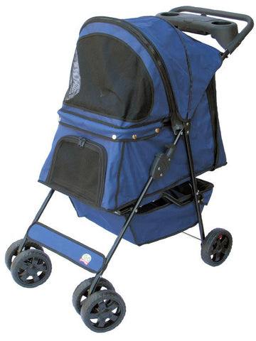 GoPetClub Pet Stroller Blue Color (PSB001) - Peazz Pet