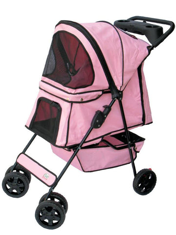 GoPetClub Pet Stroller Pink Color (PSP002) - Peazz Pet