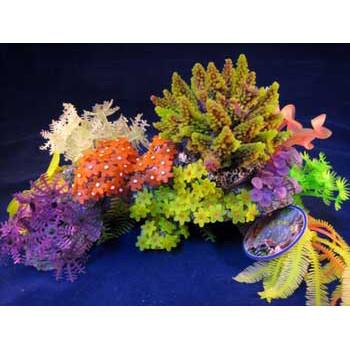Deco Art Reef Scene 260 Lg Purple - Peazz Pet