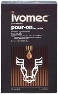 Ivomec Pour-On for Cattle Size - 1 Liter (67651) - Peazz Pet
