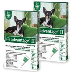Advantage II For Small Dogs 1-10 lbs, Green 12 Pack - Peazz Pet