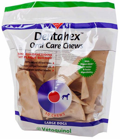 Dentahex Oral Care Chews, 18 oz. LARGE - Peazz Pet