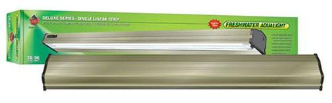 Coralife Freshwater Aqualight Single Linear Strip Compact Fluorescent Fixture, 1X96 Watt, 36 inch (53016) - Peazz Pet