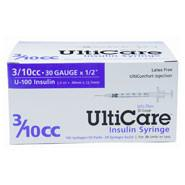 "UltiCare U-100 Insulin Syringe, 3/10cc 30g x 1/2"", 100/Box (MD-17409) - Peazz Pet"