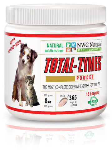 NWC Naturals Total-Zymes Powder - 8 oz (E228) - Peazz Pet