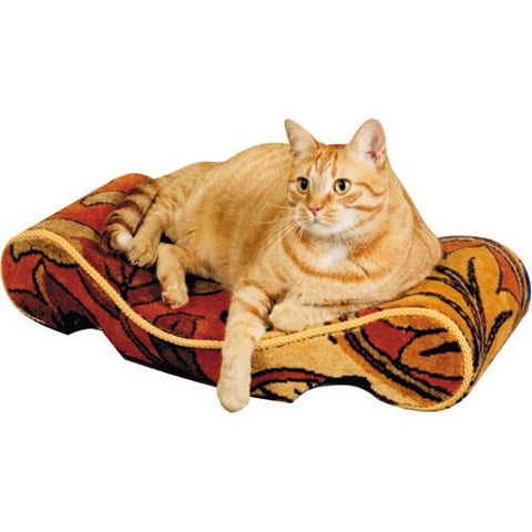 "Omega Paw Lazy Lounger Cat Bed 23"" x 14"" x 5"" Assorted Colors and Patterns - Peazz Pet"