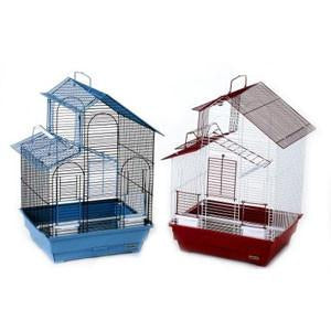 Parakeet House Style Cage 16 x 14 x 24 - Case of 2 (41614) - Peazz Pet