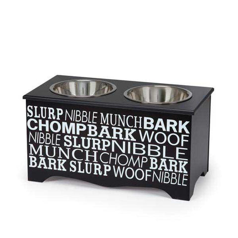 Pet Studio Let's Eat Pet Diners Medium - Black (ZA4051-16-17) - Peazz Pet