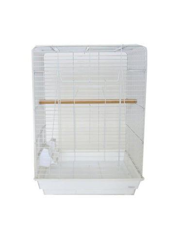 "YML Group 1924WHT 3/4"" Bar Spacing Open Play Top Small Parrot Bird Cage - 20""x16"" In White - Peazz Pet"