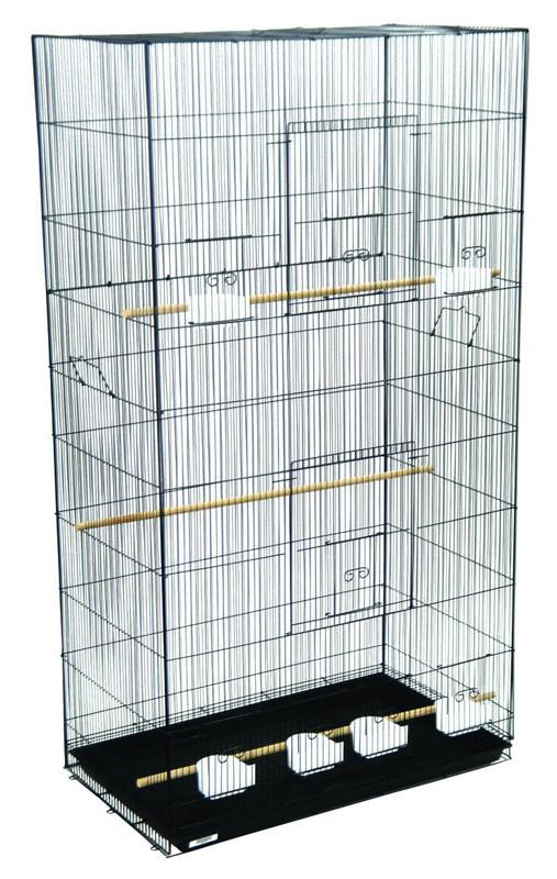 Yml Group 3x2494blk Lot Of 3 Xlarge Breeding Cages - Black