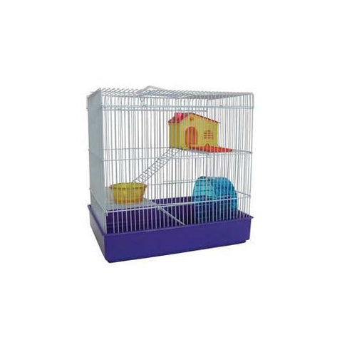 YML Group H820BL H820 3 Level Hamster Cage, Blue