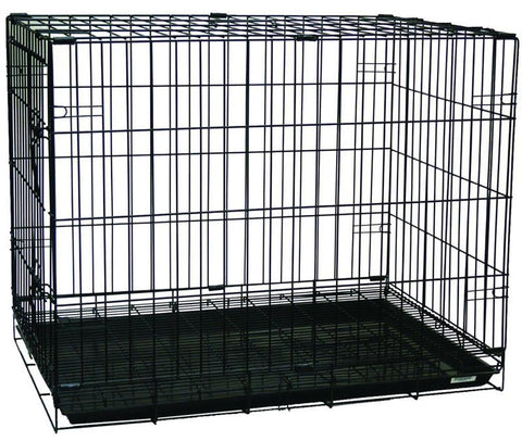 "YML Group SA30G 30"" Dog Kennel Cage With Bottom Grate, Black"