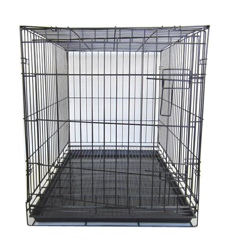 Yml Group Sa48g 48  Dog Kennel Cage With Bottom Grate, Black