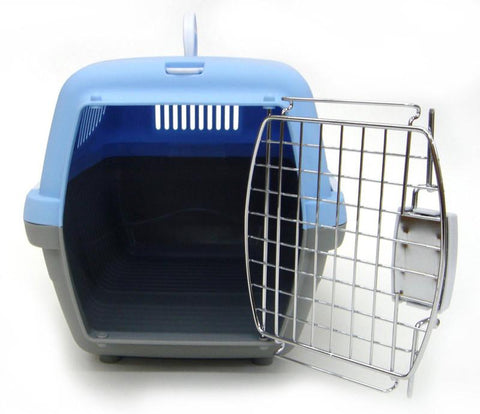 YML Group Z100S-BL Small Plastic Carrier for Small Animal, Blue - Peazz Pet