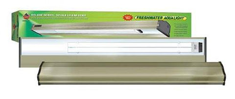 Coralife Freshwater Aqualight Single Linear Strip Compact Fluorescent Fixture, 1X65 Watt, 30 inch (53015) - Peazz Pet