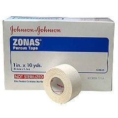 Johnson & Johnson Zonas Porous Tape 1 in x 10 yds, 12 Rolls/Box - Peazz Pet