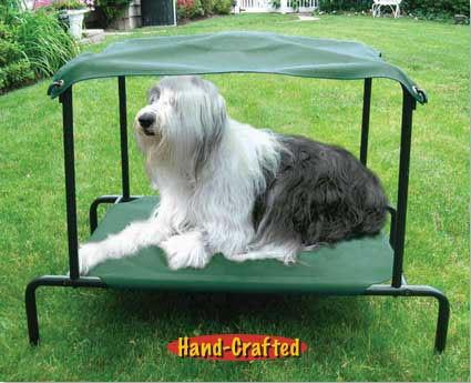 Puppywalk Breezy Bed Large Green - For Dogs Up to 60 lbs (PWBB101) - Peazz Pet