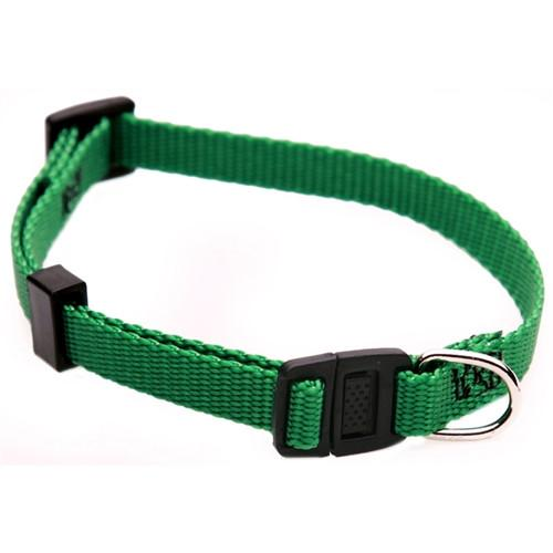 Majestic Pet Products 8in - 12in Adjustable Safety Cat Collar Green By