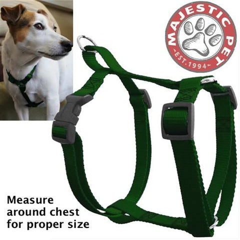 Majestic Pet Products 12in - 20in Harness Green, Sml 10 - 45 lbs Dog By Majestic Pet Products - Peazz Pet