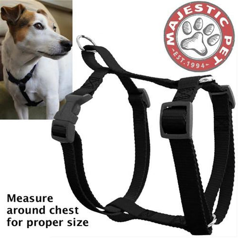 Majestic Pet Products 12in - 20in Harness Black, Sml 10 - 45 lbs Dog By Majestic Pet Products - Peazz Pet