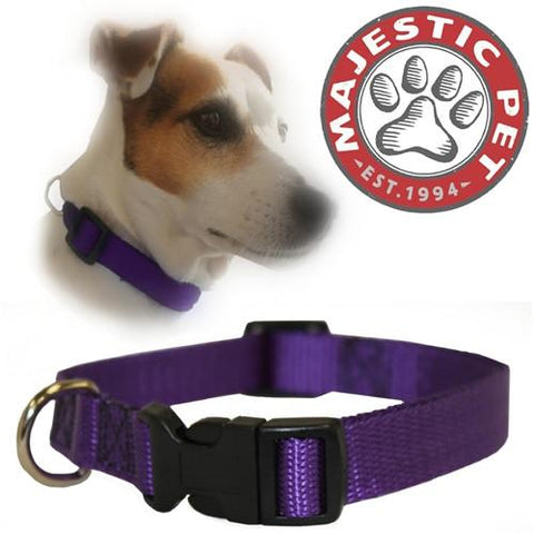 Majestic Pet Products 10in - 16in Adjustable Collar Purple, 10 - 45 lbs Dog By Majestic Pet Products - Peazz Pet