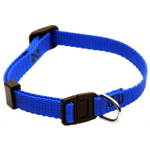 Majestic Pet Products 8in - 12in Adjustable Safety Cat Collar Blue By