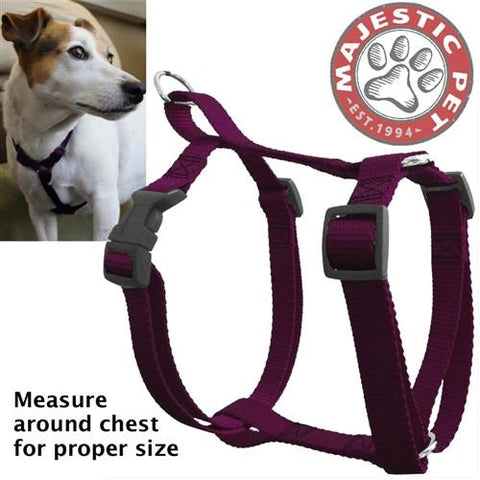 Majestic Pet Products 12in - 20in Harness Burgundy, Sml 10 - 45 lbs Dog By Majestic Pet Products - Peazz Pet