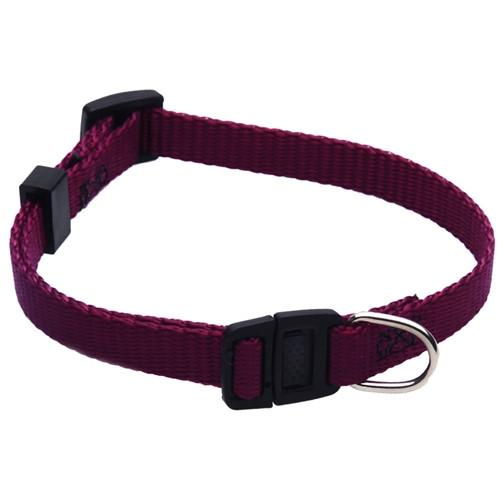 Majestic Pet Products 8in - 12in Adjustable Safety Cat Collar Burgundy