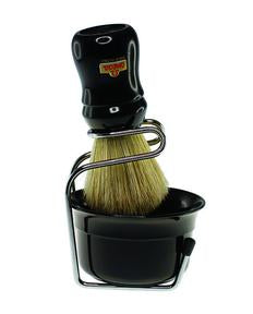 Omega Boar Shave Brush & Stand and Shave Bowl