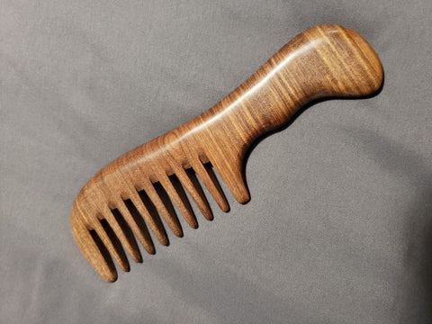 Wide Tooth Natural Sandalwood Comb