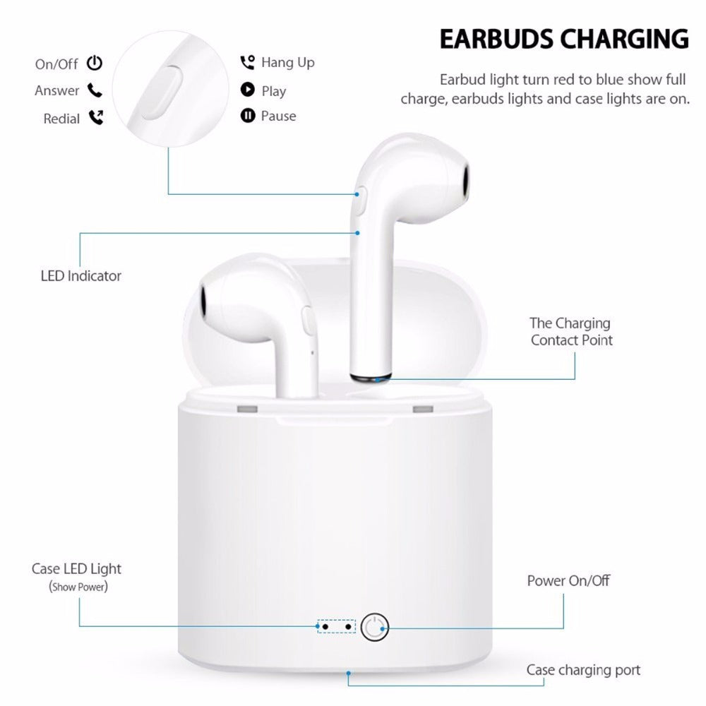 Twin Stereo Bluetooth Earbuds