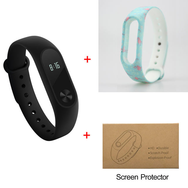 Fitness Tracker W/Exchangeable Bands And Screen Protector