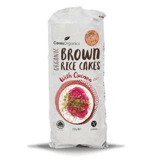 Cere's Organic Brown Rice Cakes Quinoa