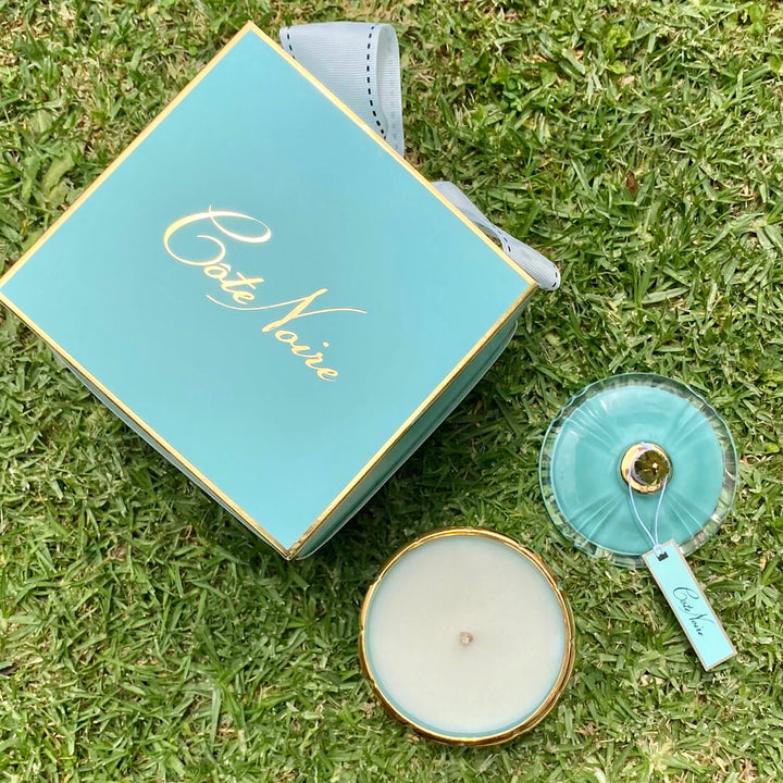 Cote Noire Art Deco Candle Tiffany Blue - Delivery NZ Wide