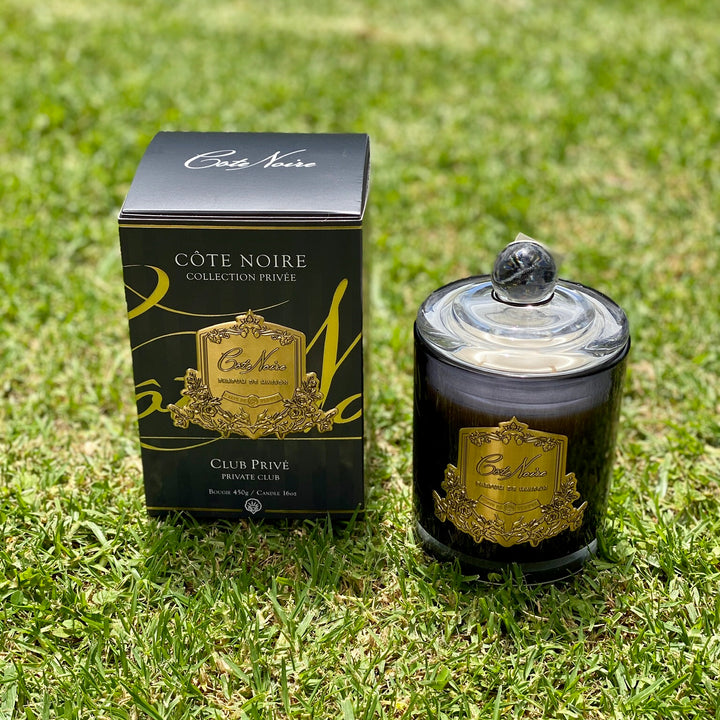 Cote Noire Candle 450g. Private Club Black. Delivery NZ Wide