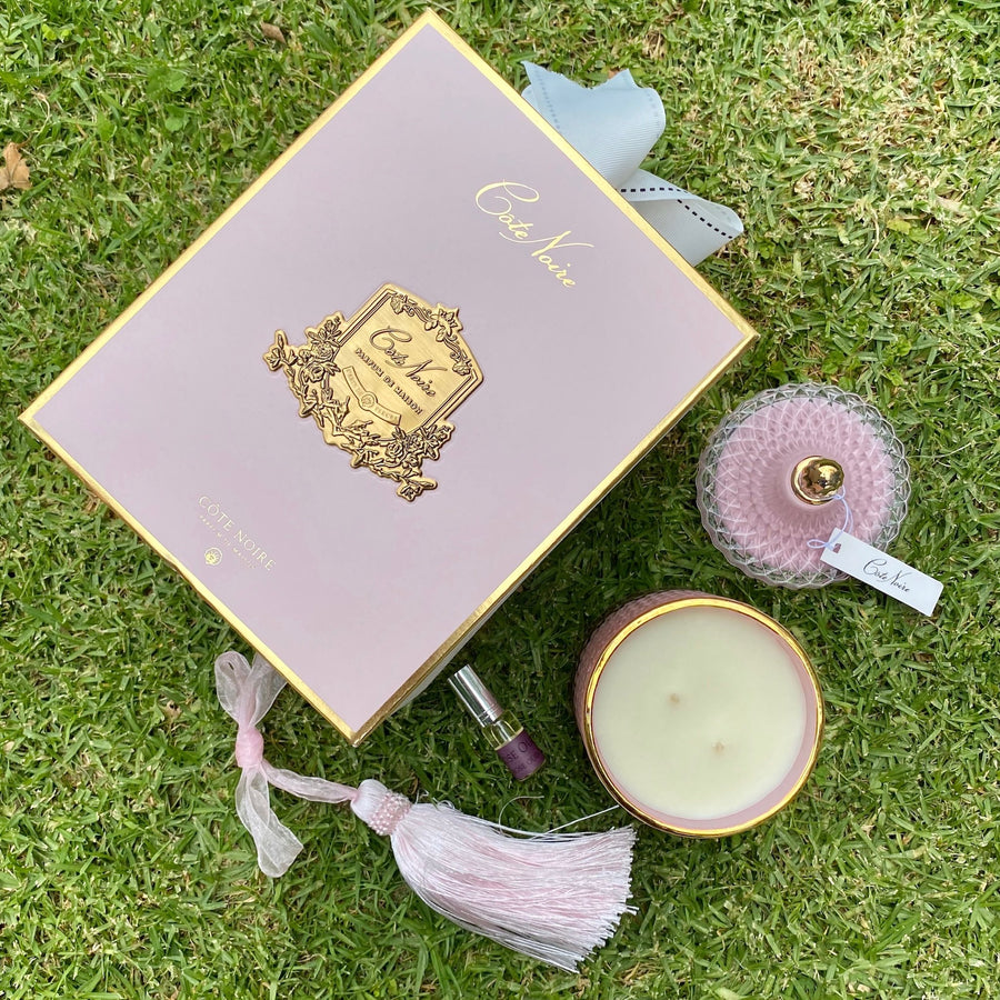 Cote Noire Grand Art Deco Candle inside beautiful box. Get it delivered for free NZ wide