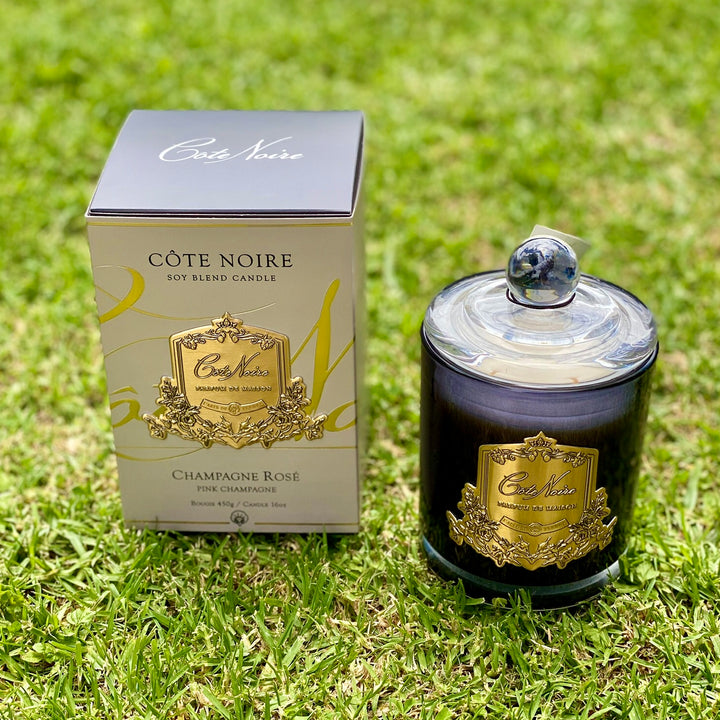 Cote Noire Candle 450g. Champagne Rose. Delivery anywhere in NZ.