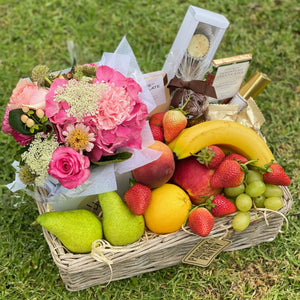 Luxury Chocolate, Flower & Fruit Basket