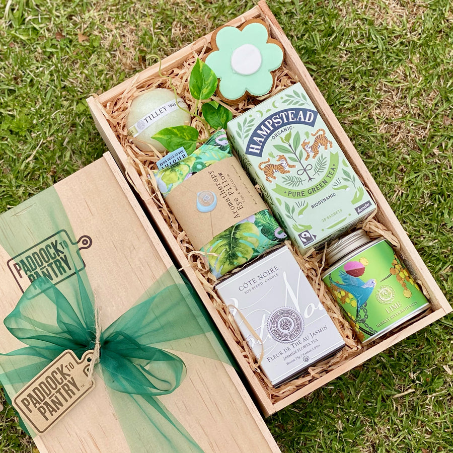 Green Dream Relaxation Gift Basket