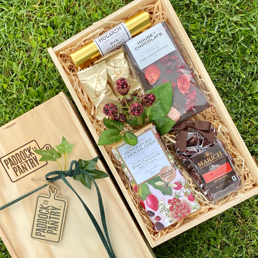 Chocolate Gift Basket including House Of Chocolate, Hogarth & Devonport Chocolates. We'll deliver this Gift Basket anywhere in NZ.
