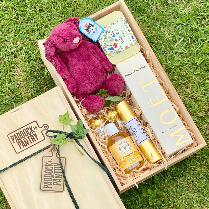 Jellycat Baby Gift Basket - Sparkly Cassis