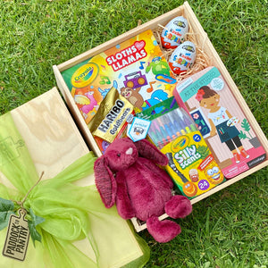 Kids Gift Basket including Jellycat, Haribo & Crayola