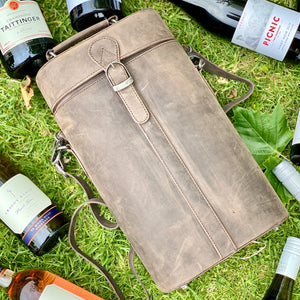 Premium Leather Wine Hamper - Choose your wine